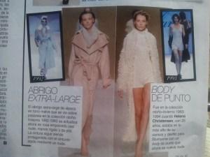 El punto y el invierno en todas las revistas. Modelos similares despues de 25 años. Los años pasan pero la moda vuelve @telva